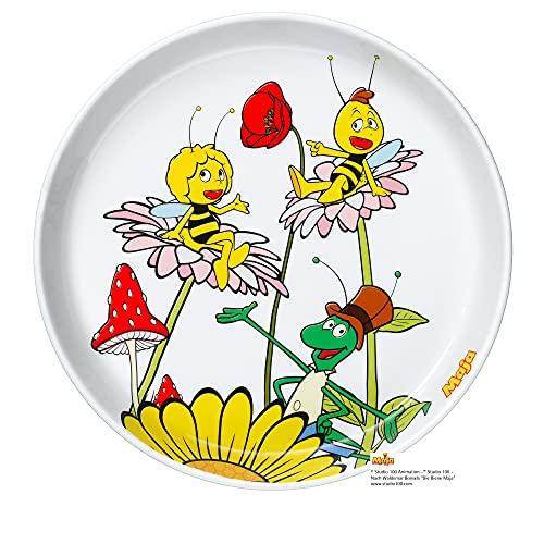 WMF Biene Maja Kindergeschirr Kinderteller 19,0 cm, Porzellan, spülmaschinengeeignet, farb- und lebensmittelecht