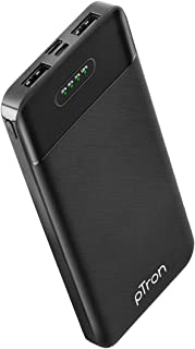 pTron Dynamo Lite 10000mAh Li-Polymer Power Bank, Made in India, 10W 2.1A Fast Charging Power Bank for Smartphones & Dual ...