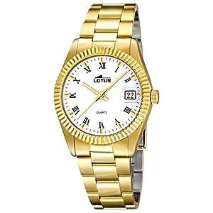 Lotus Classic 15824/1 - Reloj De Mujer En Acero Chapado En Oro Nuevo GarantÍa 2 AÑos