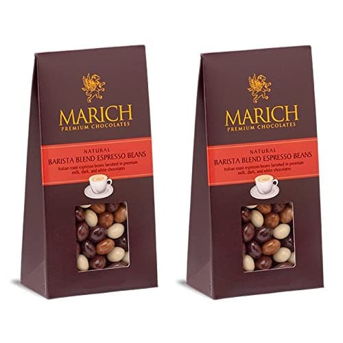 Marich Barista Blend Premium Chocolate Covered Espresso Beans 4.25-Ounce (Pack of 2)