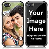 SHUMEI Custom Case for Apple iPhone se 2020 case,for iPhone 7 or iPhone 8 Glass Cover 4.7 inch Anti-Scratch Soft TPU Personalized Photo Make Your Own Picture Phone Cases
