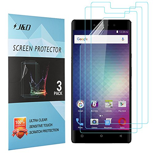 J&D Compatible for 3-Pack BLU VIVO 5R Screen Protector, [Not Full Coverage] Premium HD Clear Film Shield Screen Protector for BLU VIVO 5R Crystal Clear Screen Protector