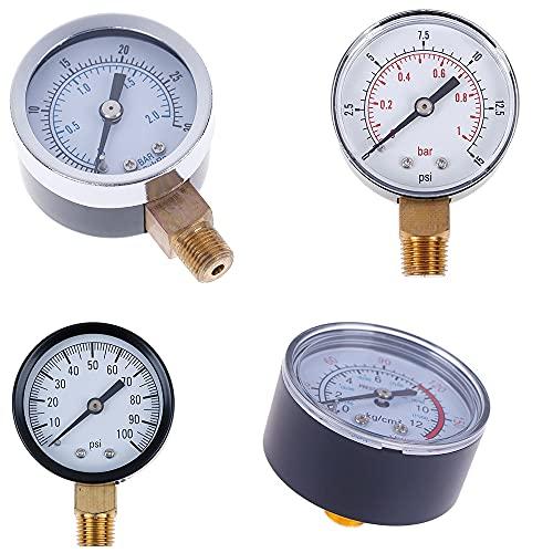 IGOSAIT 1 PZ Pressione Pressione A Bassa Pressione per Il Carburante Air Oil Gas Acqua Acqua Misura del Gas 22/25/40 / 50mm Diametro (Pressure Range : 0 12 Bar 0 170 Psi)
