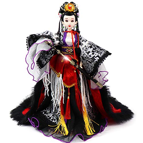 JaidWefj Hermosa muñeca de Traje Chino/Muñeca Liang Hongyu móvil de 14 articulaciones - Colección de decoración del hogar (Excluyendo Espada)