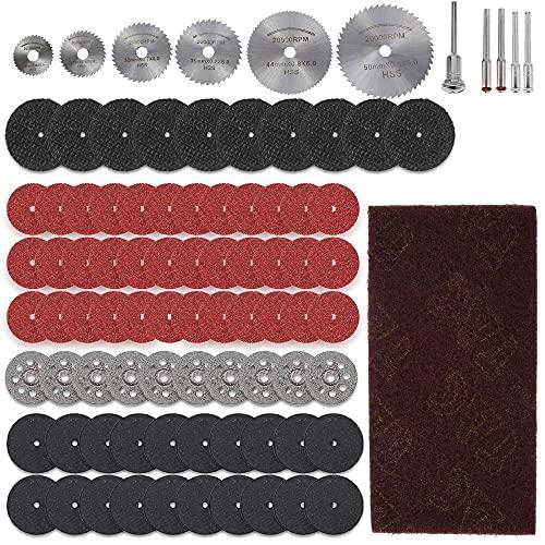 HSS Discos de corte mini para sierra circular Dremel – Kit de...