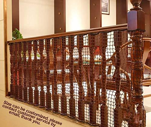 NIUFHW veiligheidsnet veiligheidsnet trap balkon kinderveiligheidsnet breedte 1,2 M/lengte 2 M tot 7 M optioneel handgeweven traditioneel veiligheidsnet (grootte: 1,2 M × 7 M) decoratienet