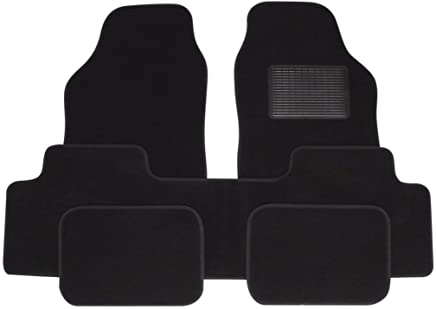 WLW Universal Fit All Black super grip Carpet MPV SUV Mats Front  amp  Rear Floor Covering