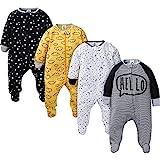 Gerber Baby Boys' 4 Pack Sleep 'N Play Footie, Star, 0-3 Months