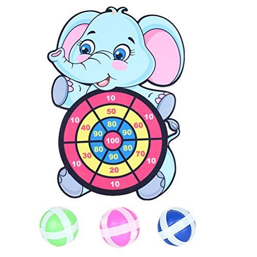 Juego de mesa para dardos, para niños, con 1 tableta para dardos y 3 bolas adhesivas, de velcro para dardos de mesa, seguro para interiores y exteriores, para niños y adultos