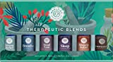 Woolzies Natural 100% Pure Therapeutic Essential oil Gift Set of 6 | Good night, Breathe, Pain relief, Head Relief, Stress relief, Immunity Blend-Thieves Blend | For Diffusion/Internal/Topical Use