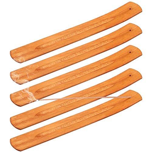 fanshiontide 5 Piezas Madera Quemador Incienso, Porta-Incienso de Madera Bambú Quemador de Incienso...