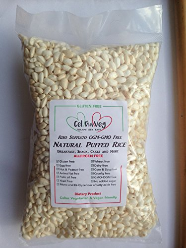 RISO SOFFIATO 1 kg Senza Glutine e Senza Allergeni, Gluten & Allergen free No OGM/GMO FREE
