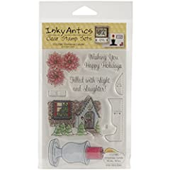 "Honeypop Clear Stamp Set 4""X5.25""-Christmas Candle"