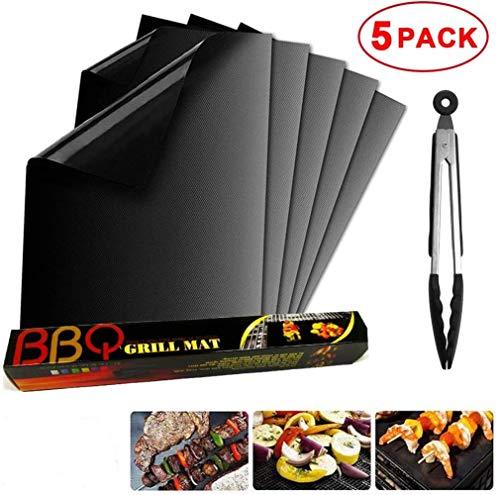 Sgualie BBQ Grillmatte Antihaft-Mehrweg-Grill &Backmattenfür Ofen, Gas, Holzkohle, Elektrogrill, beständig bis zu