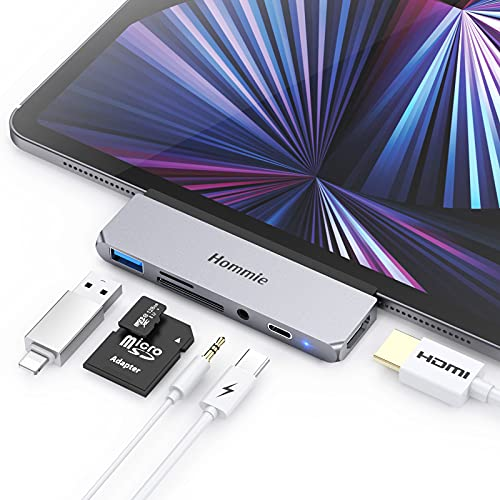 HUB USB C para iPad Pro 2021/2020/2018, Hommie 6 EN 1 Adaptador...