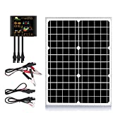 SUNER POWER 20 Watts 12V Off Grid Solar Panel Kit - Waterproof 20W Solar...
