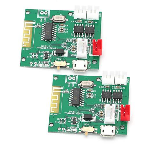 Placa amplificadora, módulo Amplificador de Audio Plug and Play, Bluetooth de Doble Canal 3,7‑5 V DIY para Montaje de Altavoces reproducción de Audio