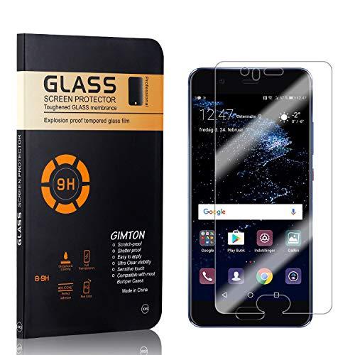 GIMTON Displayschutzfolie für Huawei P10, 9H Härte, Blasenfrei, Anti Öl, Ultra Dünn Kratzfest Schutzfolie aus Gehärtetem Glas für Huawei P10, 4 Stück