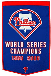 Philadelphia Phillies World Series Championship Dynasty Banner - with hanging rod