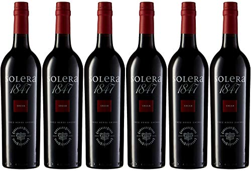 Solera 1847 Cream, vino D.O. Jerez, 6 botellas x 750 ml, total: 4500 ml