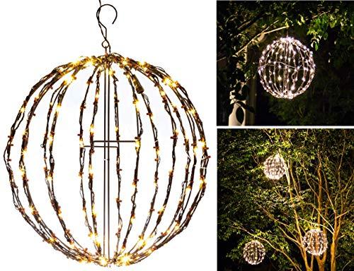 """Elf Logic - Outdoor LED 16"""" Light Balls (3 Pack) Hanging Tree Globe Light - Outdoor Light Balls (3 Pack - 16"""" Balls)"""