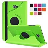 Lobwerk Tasche für Samsung Galaxy Tab A SM-T580 SM-T585 10.1 Zoll Schutz Hülle Flip Tablet Cover Hülle (Grün) NEU