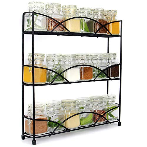 Free Standing 3 Tier Herb & Spice Rack | Non-slip Universal
