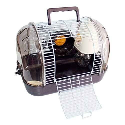 DZL Roborowski-hamsterstok, kunststof, voor hamsters en dranken, inclusief gratis A1-drinken, S-33 * 21 * 23CM, Paars