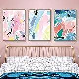 Sicheres Leben Abstrakte rosa Leinwand Malerei Poster