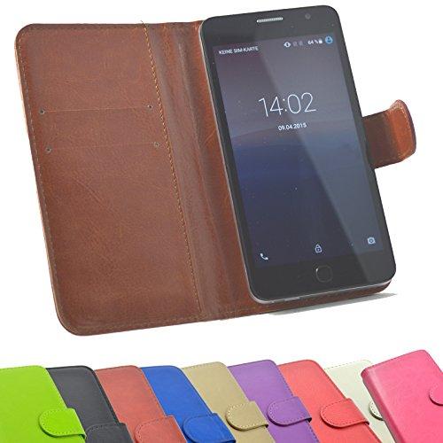 ikracase Handyhülle für Sharp Aquos D10 Aldi Handy Tasche Slide Hülle Cover Smartphone Hülle Schutzhülle in Braun
