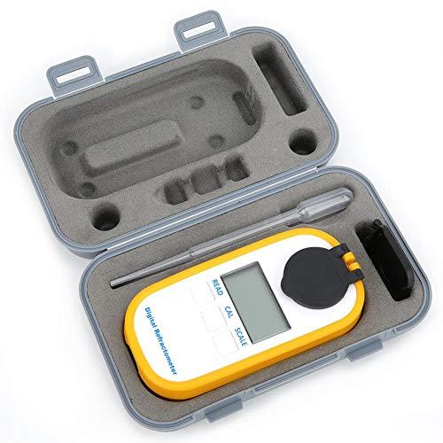 Brix-refractometer, 2-in-1-refractometer, digitale wijnconcentratiemeter, digitale refractometer, voor het meten van het suikergehalte van peren, watermeloenen, levensmiddelen en suiker, DR103
