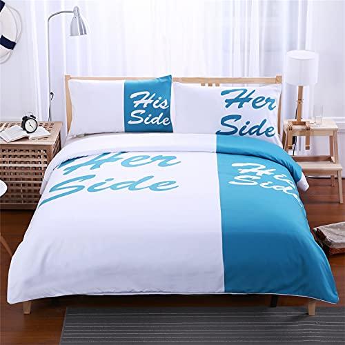 CCBAO Impresión 3D Alfabeto Inglés Textiles para El Hogar Hotel De Apartamentos Textiles para El Hogar Funda De Almohada De 3 Piezas Europea Y Americana Funda De Edredón 135x200cm(WxH) C