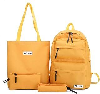 4-Piece Set Of Teen Girls Schoolbags For Girls Students School Backpack Schoolbag Black Schoolbag Women 2020 Summer New Black