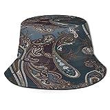Yoliveya Sombrero de Pesca,Patrón de Paisley clásico,Senderismo para Hombres y Mujeres al Aire Libre Sombrero de Cubo Sombrero para el Sol