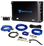 Rockville dB11 700 Watt RMS Mono Class D 2-Ohm Car Amplifier+Bass Remote+Amp Kit