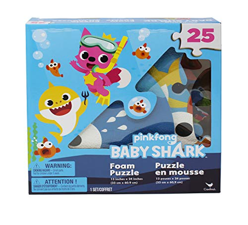 Pinkfong Baby Shark 25-Piece Foam Jigsaw Puzzle for Families, Kids, and Preschoolers Ages 4 and Up -  Spin Master, 6053213