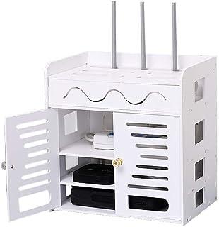 LULUDP Scatola di archiviazione Wireless Charging Cable Box Scatola di immagazzinaggio Router Wireless Set-Top Rack, WiFi ...