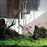 JJSJ Tubo de alimentación de acuario 25/30/35/40/45 CM Tubo de cristal para peces Tubo de alimentación para acuario Camarones con fuente de alimentación de pescado con 2 ventosas (30 cm)