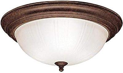 Kichler 8655TZ Flush Mount 3-Light, Tannery Bronze