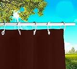 Byour3®️ Balkon Markisen Sonnensegel Mit Ringen Atmungsaktive Sonnenschutz Baumwolle Geharzt Wasserdicht Stoff Vorhänge Sichtschutz Terrassen Outdoor Pavillon (Bordeaux, B. 190X285 L. cm)