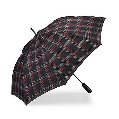 Volkswagen 5KA087600 Regenschirm GTI Stockschirm Halbautomatisch Clark Design, schwarz