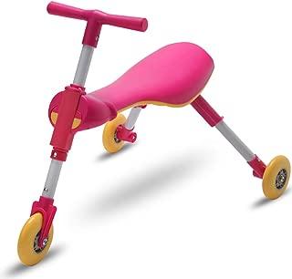 幼児シャイニングキッズスクーターバランスバイクベビーウォーカー三輪車トライクライドで車のおもちゃポータブル折りたたみ式3-6子供