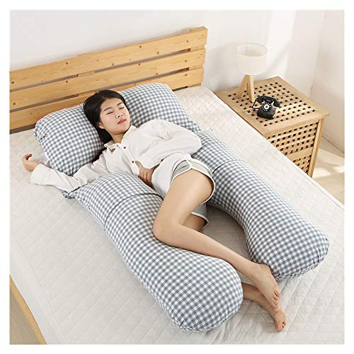 Almohada corporales-SYY El Embarazo de algodón Almohada Desmontable de la Cintura Lateral posicional Almohada, asistida Sleep Cuerpo Almohada (Color : Style 4)