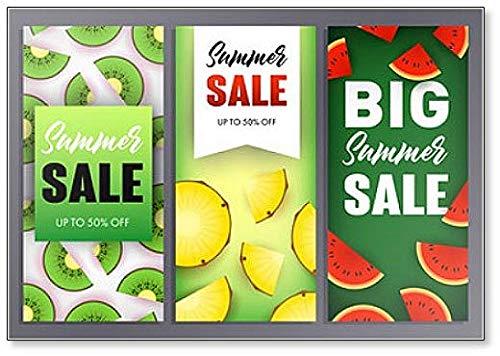 Zomerverkoop Letterings Set, Watermeloen, Kiwi en ananas plakjes Koelkast Magneet