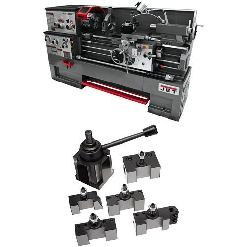 Lowest Prices! JET GH-1640ZX TAK Lathe with Taper Attachment Installed with 200 Series Quick Change Tool Post Set