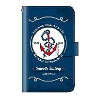 +S iPod touch 第5・第6・第7世代 手帳型ケース マリン 夏 サマー ヴィンテージマリン PUレザー icd0013-05