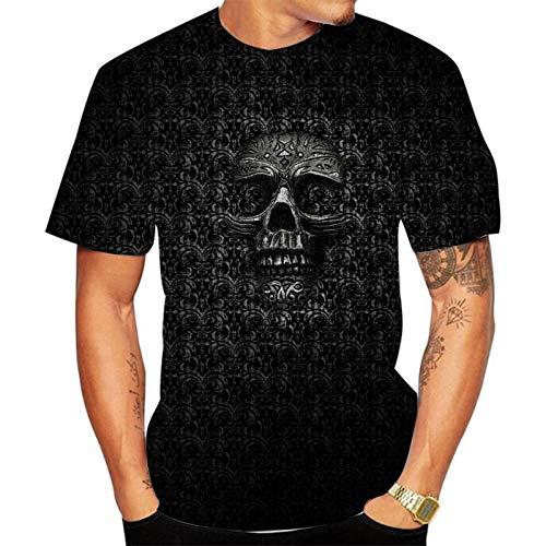SSBZYES Camiseta para Hombre Camiseta De Verano De Manga Corta para Camiseta De Cuello Redondo para Hombre Camiseta con Estampado De Calavera Pullover Camiseta De Gran Tamaño para Hombre Camis