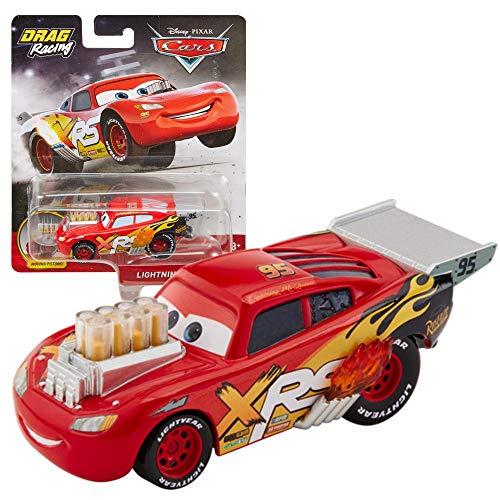 Mattel Drag Racing Modelle Auswahl Auto | Disney Cars | Cast 1:55 Fahrzeuge, Typ:Lightning McQueen