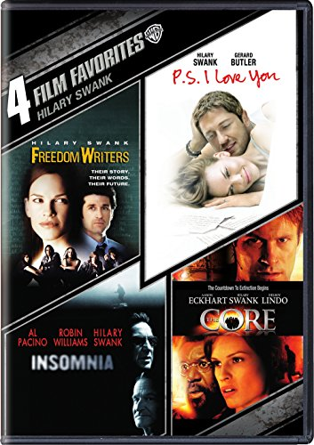 4 Film Favorites: Hilary Swank: Freedom Writers  P.S. I Love You   Insomnia   The Core (DVD)