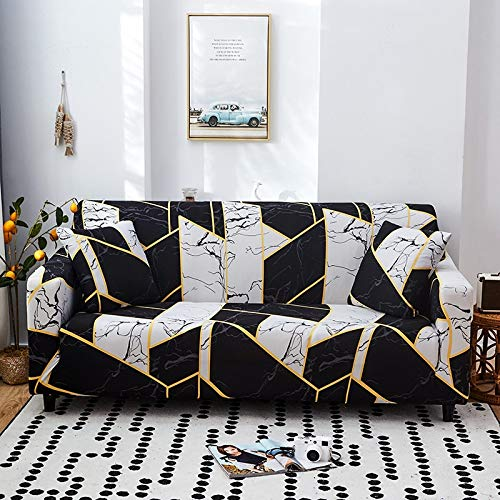 PPMP Geometrisches Muster Elastische Sofabezug Stretch All-Inclusive-Sofabezüge für Wohnzimmer Couchbezug Sofabezüge A5 4-Sitzer